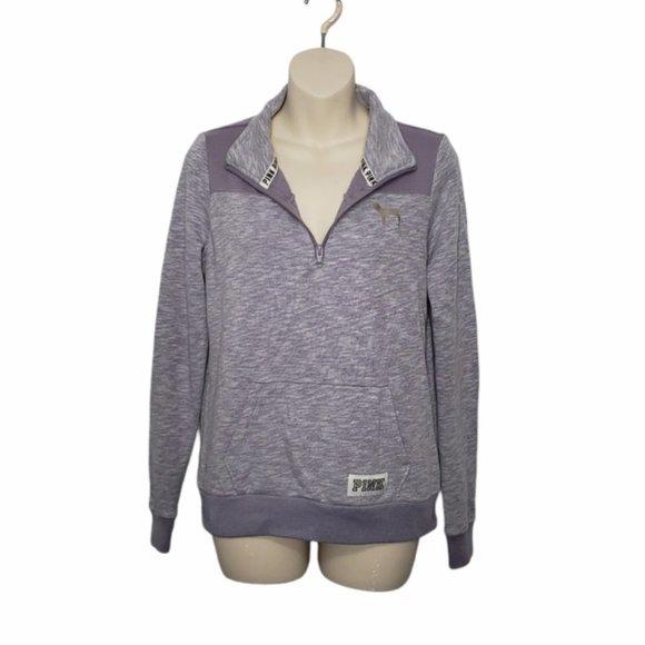 PINK VICTORIA'S SECRET 1/4 sip sweater XS